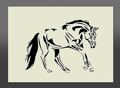 Horse Stencil - Various Sizes - Made From High Quality Mylar