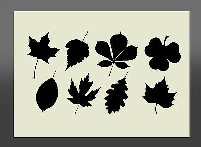 Leaves  Stencil - Various Sizes - Made From High Quality Mylar