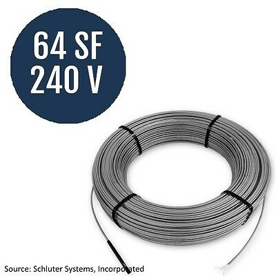 Schluter Systems Ditra Heat 240V Cable 64 Square Foot  (DHE HK 240 64)
