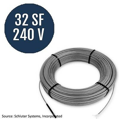 Schluter Systems Ditra Heat 240V Cable 32 Square Foot  (DHE HK 240 32)