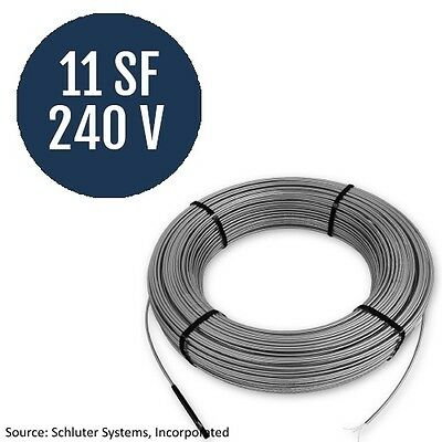 Schluter Systems Ditra Heat 240V Cable 11 Square Foot  (DHE HK 240 11)
