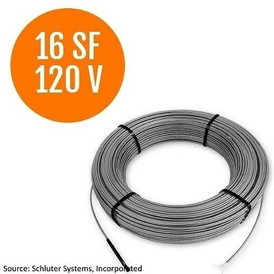 Schluter Systems Ditra Heat 120V Cable 16 Square Foot  (DHE HK 120 16)