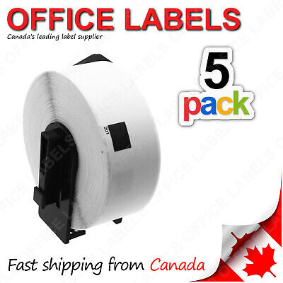 5 Rolls of DK-1201 BROTHER® Compatible Labels With 1 Reusable Cartridge