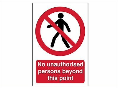 Scan - No Unauthorised Persons Beyond This Point - PVC 400 x 600mm