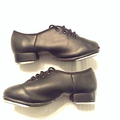 Theatrical Tap Dance Jazz Shoes Size 11 Child Lace Up Black