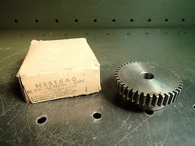 """Browning NSS1640 Spur Gear 16DP 40T 14.5 1/2"""" Bore 1/2"""" Tooth Face 1"""" Thick"""