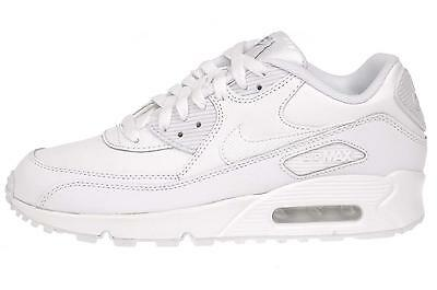 Nike Air Max 90 GS Kids Youth Running Shoes White (Fits Womens) 307793-167