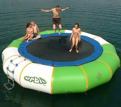 3m Diameter Inflatable Water Jumping Trampoline/Water Jumping Bed For Sale