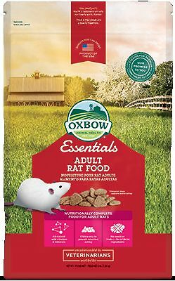 Oxbow REGAL RAT Adult Food Essential Fortified Nutrient Low-Fat Kibble 3 Pound
