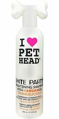 Pet Head White Party Brightening Shampoo Orangelisious For Dogs and Cats, 12oz