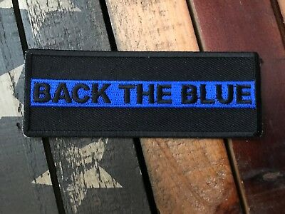 Thin Blue Line Back The Blue Patch