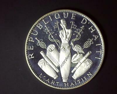 1969 25 Gourdes Haiti - 3.7 Ounce Silver - Only 1,115 Pieces Made