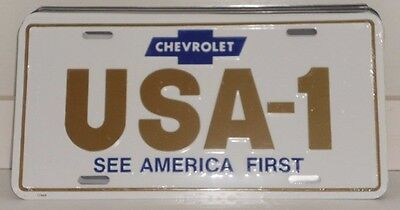THE HEARTBEAT OF AMERICA YESTERDAY`S EL CAMINO ALUM LICENSE PLATE CHEVY MADE USA