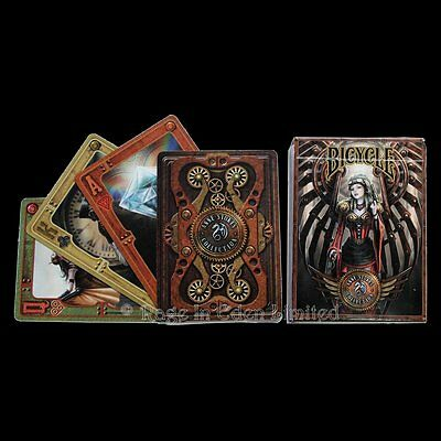 *STEAMPUNK* Full Deck Of ANNE STOKES Goth Fantasy Art Bicycle Playing Cards
