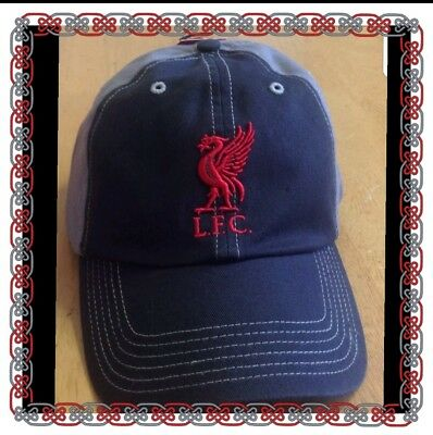 Official Liverpool Grey And Baseball Cap - Brand 47 - New For 2016/ 2017 Season