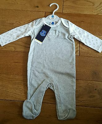 Official Everton FC Baby Grow/ Sleep Suit Age 3-6 Mths