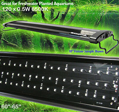 AQUARIUM LED OVERTANK LIGHT PLANTED TANK LIGHTING EXTENDABLE 150cm AQUASCAPE 60""