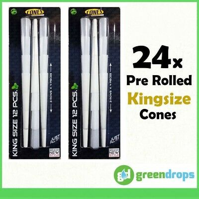 24x King Size Pre Rolled Kingsize Tobacco Cones Smoking Rolling Paper AUS STOCK