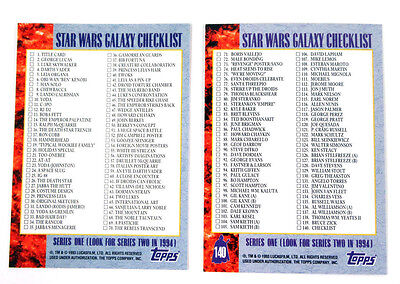 Star Wars - Galaxy Series 1 - Variant Promo Checklist Card - Bend Em - NM