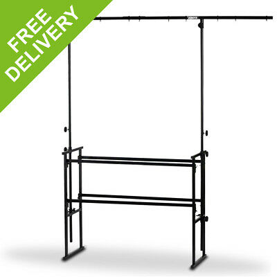4ft DJ Deck Stand Heavy Duty Mobile All-In-One Metal Overhead Lighting T-Bar Kit