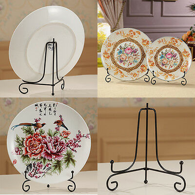 """4""""-12"""" Iron Easel Classic Display Stand Bowl Plate Art Photo Picture Frame Book"""
