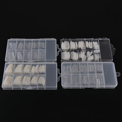 100x Natural white French Acrylic False Fake Nail Art Fingernail Full Tips Box B