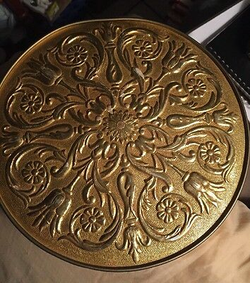 """VINTAGE GOLD Round TIN By """"Smith Crafted Chicago"""""""