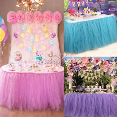 2/3pcs TUTU Table Skirts Tableware Wedding Xmas Baby Shower Birthday Party Decor