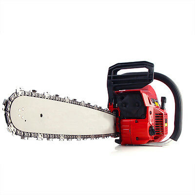 New 49.3cc 2-Cycle Petrol Chainsaw 20inch Bar Gas Powered Chain Saw DE Ship