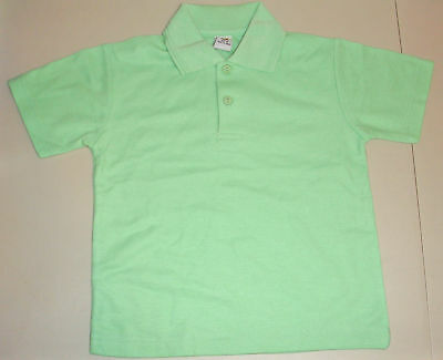 NEW unisex School Uniform Polo Shirt Lime size 5 to 16