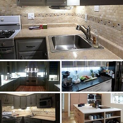 5ft white Closet Kitchen Under Cabinet Counter LED lighting+remote+ AU power HM