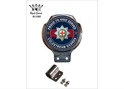 Royale Car Scooter Bar Badge + Fittings - COLDSTREAM GUARDS PROUD - B1.3383