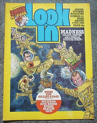 LOOK-IN MAGAZINE No.41 1981 MADNESS THE BEATLES BUCKS FIZZ CHiPS EXC