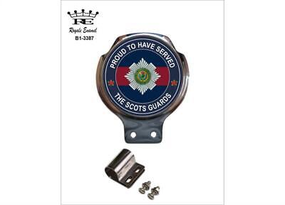 Royale Car Scooter Bar Badge + Fittings - THE SCOTS GUARDS PROUD - B1.3387