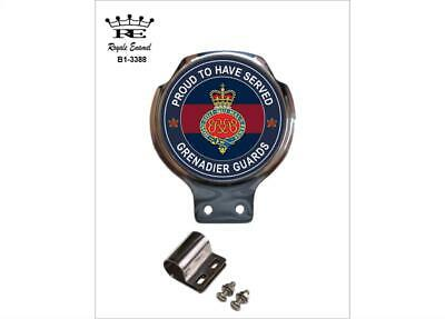Royale Car Scooter Bar Badge + Fittings - THE GRENADIER GUARDS PROUD - B1.3388