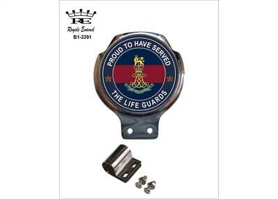 Royale Car Scooter Bar Badge + Fittings - THE LIFE GUARDS PROUD - B1.3391