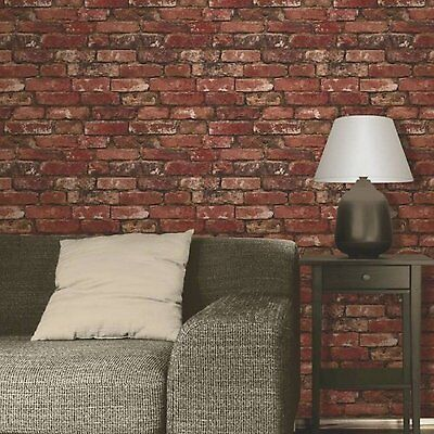 Wall Brick Wallpaper Mural Home Modern Realistic Rustic Room Background Decor