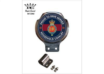Royale Car Scooter Bar Badge + Fittings - HOUSEHOLD CAVALRY - B1.3392