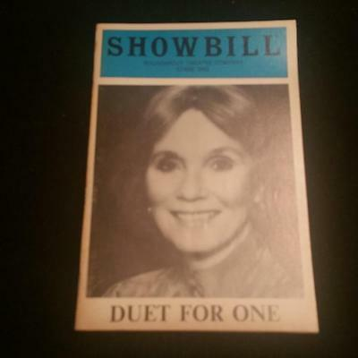 """Showbill, May 1983 - """"Duet For One"""" - Stage One - Playbill"""