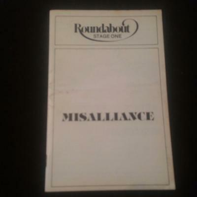 """Playbill, June 1981 - """"Misalliance"""" - Stage One - Roundabout"""