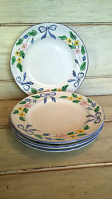 Set of 4 Herend Village Pottery BOW salad plates