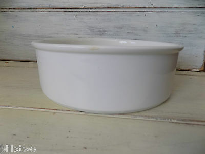 "Midwinter all white STONEHENGE straight side 8"" round vegetable serving bowl"
