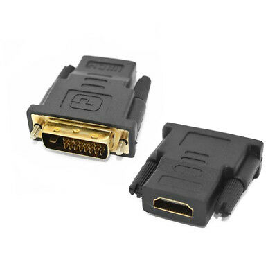 DVI-D Dual Link (24+1pin) Male to HDMI Female Adapter Converter Connector 1080p