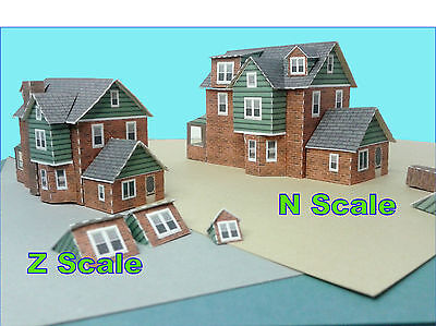 N Scale House - GBN#1 Card Stock Model Kit