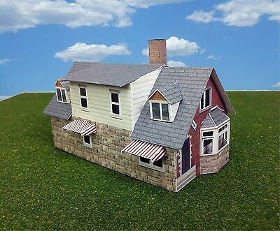 N Scale Buildings  (QTY 2) - Houses Card Stock Kit