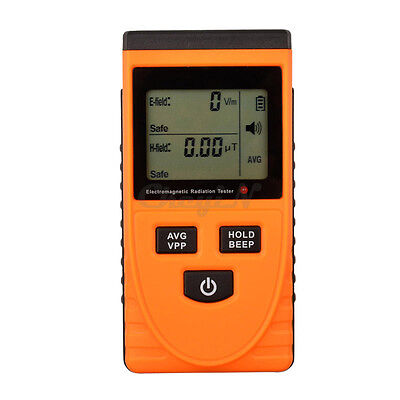 Digital Electromagnetic Radiation Detector Elect Magnetic Field Monitor Tester