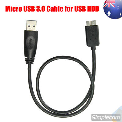 Flexible 0.5M USB 3.0 Male A to Micro B Cable Cord for External Hard Drive HDD