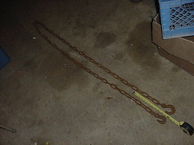 Vintage Primitive Blacksmith Logging Towing Tow Chain 12 Foot