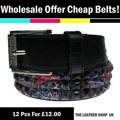 Clearance 12 pcs Wholesale Mix Assorted Sizes Fashion Jeans Belt UK Seller PF12