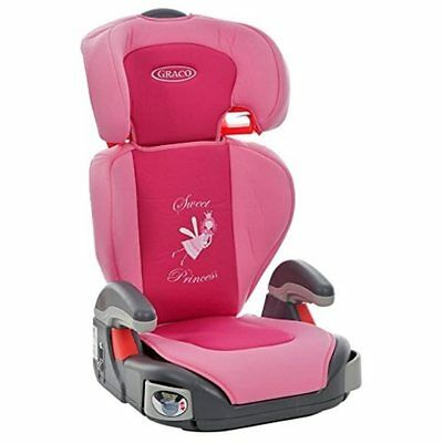 Pink Booster Car Seat Children High Back Cover Girls Princess Toddler Child